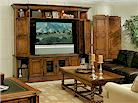 Stanley Furniture, Santa Barbara Bi-Fold Entertainment Bookcase and Console